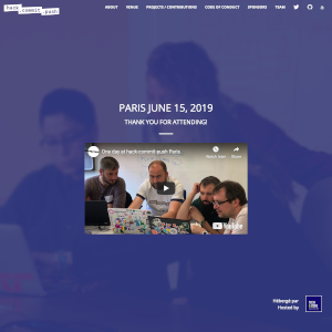 Paris 2019 website thumbnail